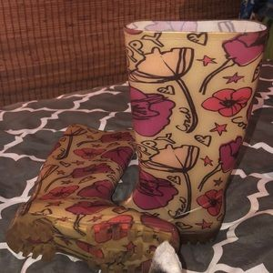 LNWOT Coach Rainboots barely used